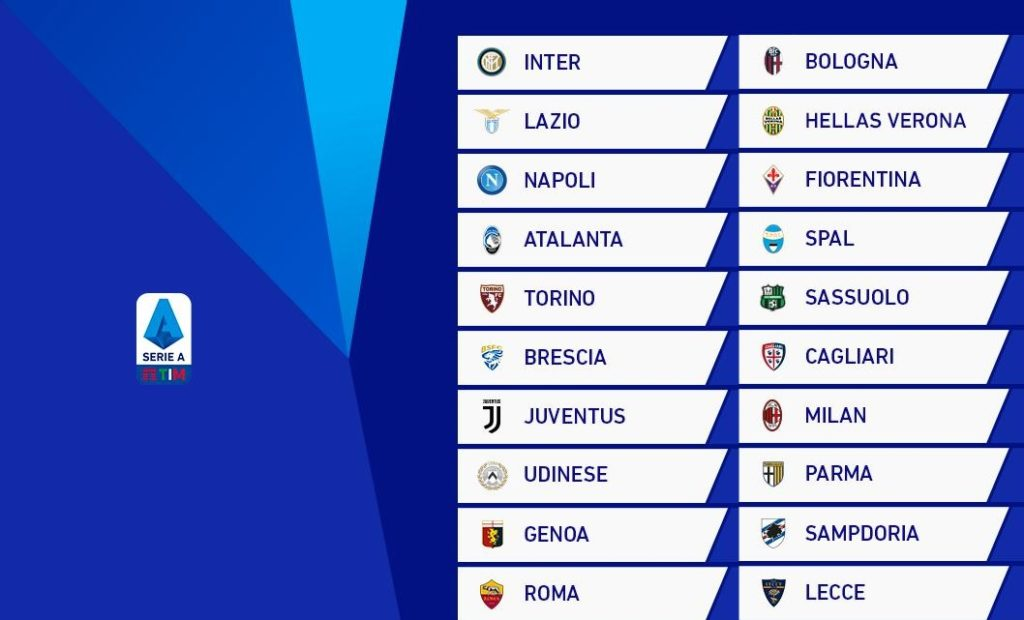 Serie A Table Classification Of Italian League Soccer Antenna