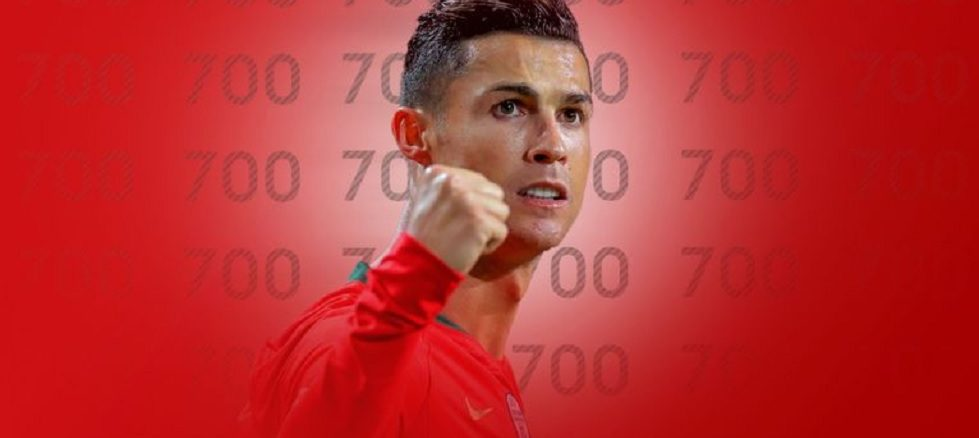 Cristiano Ronaldo achieved 700 goals