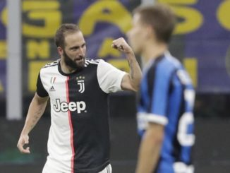 Higuain scored the winner in the Inter x Juve classic