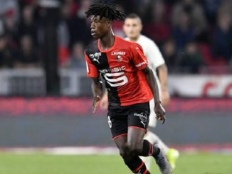 Eduardo Camavinga playing for Rennes against PSG