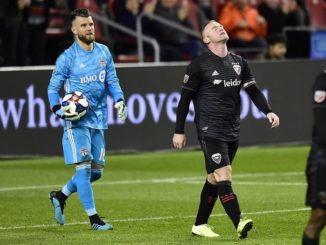 Wayne Rooney Frustrated after D.C. crashed out of MLS playoffs.