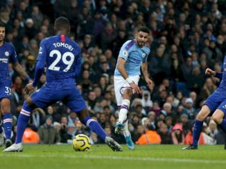 Mahrez swept Chelsea's defense to score Man City's winning goal over Chelsea.