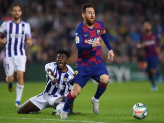 Messi double against Valladolid