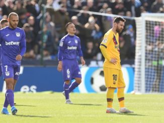 Barcelona grasped a win against bottom side Leganes