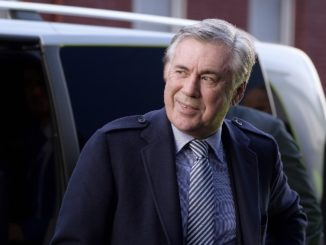 Ancelotti arriving at Goodison Park