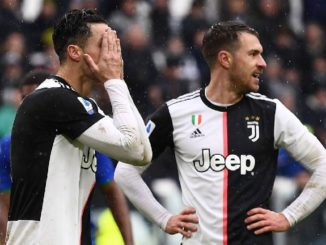 Ronaldo can't hide the frustration as Juventus drew with Sassuolo