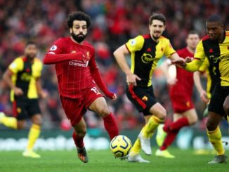 Salah against Watford