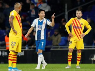 Wu Lei scored the equalizer against Barcelona.
