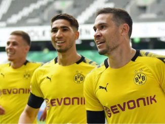 Raphael Guerreiro and Hakimi scored against Wolfsburg Bundesliga table